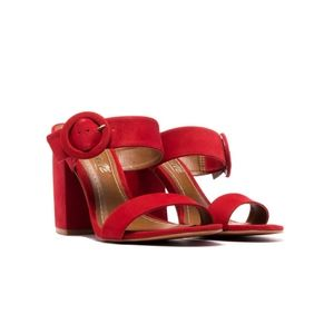 NIB Red nubuck leather sandal
